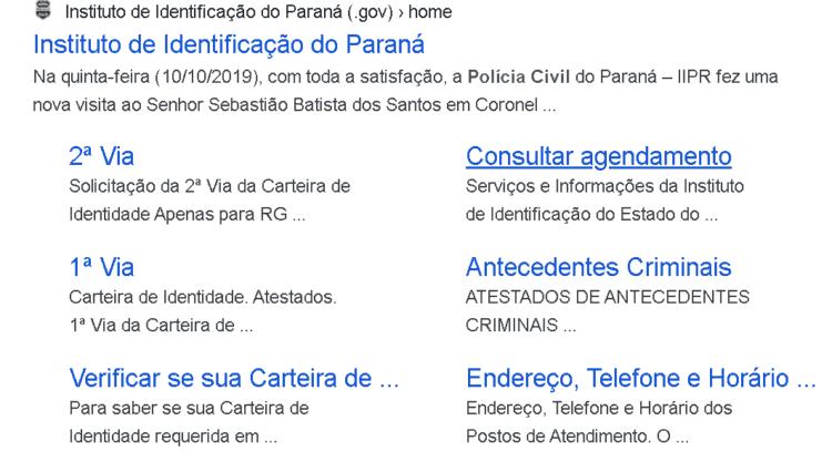 instituto de identificação da policia